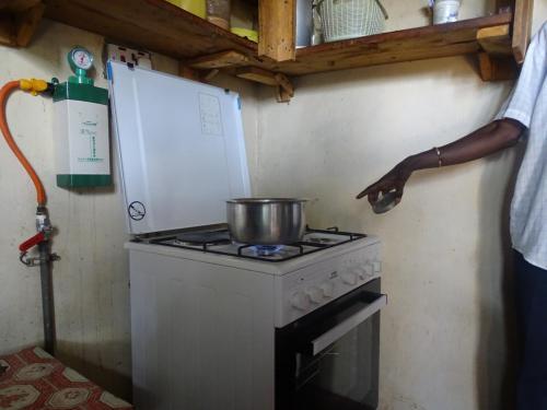 piano cottura alimentato dal biogas